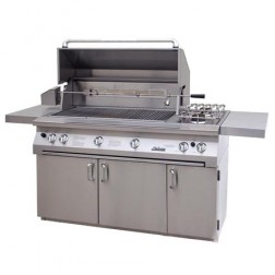 "Solaire SOL-AGBQ-56TCXBVV-NG 56"" NG InfraVection Premium Cart Grill w/ Dual Rotisserie"
