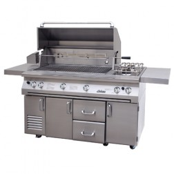 "Solaire SOL-AGBQ-56TCXBVI 56"" Gas Convection Premium Cart Grill"