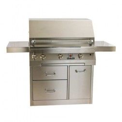 "Solaire SOL-IRBQ-36CX-LP 36"" LP Convection Premium Cart Grill"