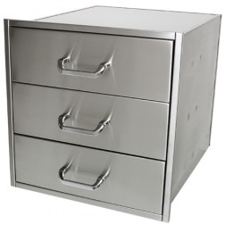 "Solaire SOL-3D21D Three 21"" X 23"" Drawer Set"