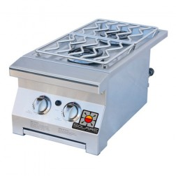 Solaire SOL-IRSB-14-NG Double Built-In Side Burner - Natural Gas