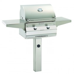 FireMagic A430s-5LAN-G6 Aurora NG In-Ground Post Grill w/ Left Side Infrared Burner