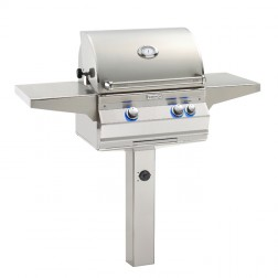 FireMagic A430s-6LAP-G6 Aurora LP In Ground Post Mount Grill w/Rotisserie