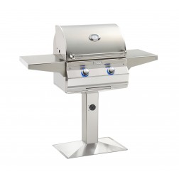 FireMagic A430s-5LAN-P6 Aurora NG Patio Post Mount Grill w/ Left Side Infrared Burner