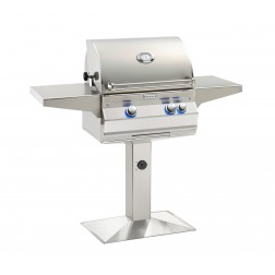 FireMagic A430s-6EAN-P6 Aurora NG Patio Post Mount Grill w/Rotisserie