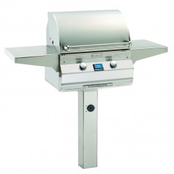 FireMagic A430s-6E1P-G6 Aurora LP In Ground Post Mount Grill w/Rotisserie