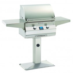 FireMagic A430s-6L1N-P6 Aurora NG Patio Post Mount Grill w/Rotisserie