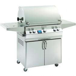 FireMagic A660s-6L1P-62-W Aurora LP Cart Grill with Rotisserie