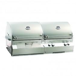 FireMagic A830s-6EAN-61-CB Aurora NG & Charcoal Cart Grill w/Rotisserie