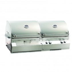 FireMagic A830i-6AAP-CB Aurora LP & Charcoal Combo Built In Grill w/ Rotisserie