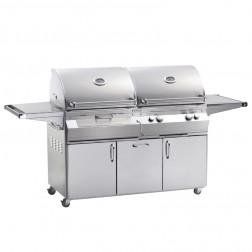 FireMagic A830s-6LAP-61-CB Aurora LP & Charcoal Cart Grill w/Rotisserie