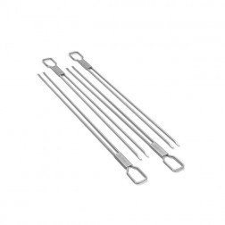 Broil King 4 Pc Stainless Dual Prong Skewers-64049