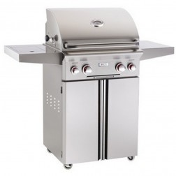 American OutDoor Grill 24PCT LP Cart Grill w/Rear Rotisserie & Side Burner