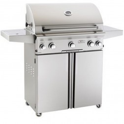 American OutDoor Grill 30PCL LP Cart Grill w/Rotisserie and Side Burner