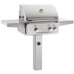 American OutDoor Grill 24NGT NG In-ground Post Grill w/ Rotisserie