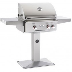 American OutDoor Grill 24NPT NG Patio Post Grill w/ Rotisserie