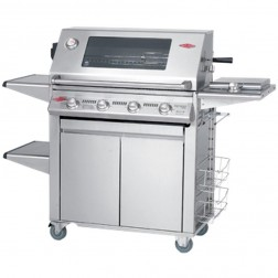 BeefEater Signature 3000SS 4 Burner LP Grill w/Premium Plus Cabinet Trolley-19440US