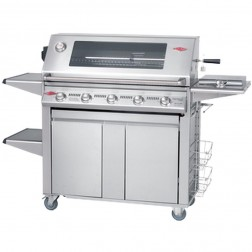 BeefEater Signature 3000SS 5 Burner LP Grill w/Premium Plus Cabinet Trolley--19640US
