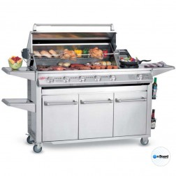 BeefEater Signature SL4000S-6 Burner LP Grill w/Premium Stainless Drawer Trolley-30060US