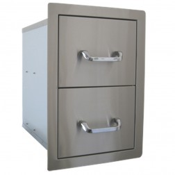 BeefEater Double Drawer-Stainless Steel-24200US
