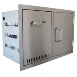 BeefEater Propane Tank Drawer and Single Door Combination-Stainless Steel-24240US