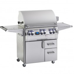 FireMagic E660s-4L1P-62 Diamond LP Cart Gas Grill w/Rotisserie