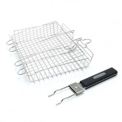 Broil King Deluxe Stainless steel Grill Basket Detachable Handle-65070