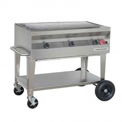"Flagro Silver Giant 36"" Commercial Nat-Gas Barbecue Grill"