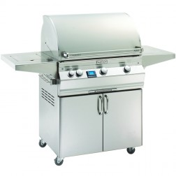 FireMagic A660s-5L1P-62-W Aurora LP Cart Grill with Rotisserie