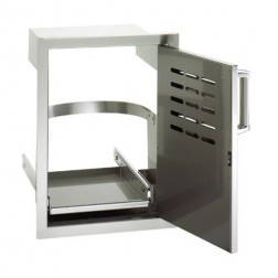 FireMagic 53820SC-TR Flush Stainless Steel Single Access Door, Right Swing, w/Louvers & Tank Tray