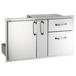FireMagic 33816S NEW Stainless Steel Access Door w/ Platter Storage & Double Drawer