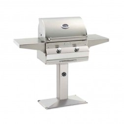 FireMagic C430S-1T1N-P6 Choice NG Patio Post Mount Grill