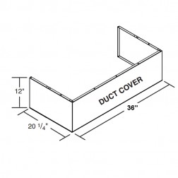 """FireMagic 36-VH-6-DC Vent Hood 36"""" Duct Cover (to be used with spacer)"""