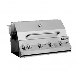 MHP MHPLX33R-N-MHPLX33CBN NG LX Series Cart Grill with Rotisserie