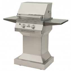 "Solaire SOL-IRBQ-21GVI-PED-NG 21"" LP InfraVection Grill on Pedestal"