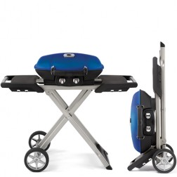 Napoleon TravelQ TQ285X-BL Portable Propane Barbecue Grill with Sissor Cart