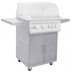 """OCI 40"""" 5 Burner with-Rotis Grill with Cart and Lights-OCI-40BQR-OCI-40C"""