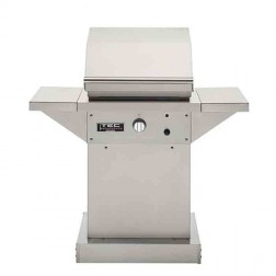 "TEC Patio FR Series 26"" NG SS Pedestal Grill- w/shelves"