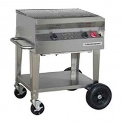 "Flagro Silver Giant 24"" Residential Gas Barbecue Grill"
