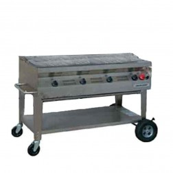 "Flagro Silver Giant 48"" Commercial Nat-Gas Barbecue Grill"