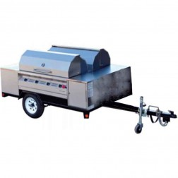"Flagro Silver Giant  96"" Commercial Barbecue Grill Trailer"