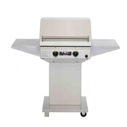 TEC Sterling II 26 inch NG IR Barbecue Grill Pdstl & 2-shelf