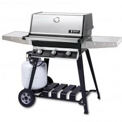 MHP T3G4DD-PS-WCP4 LP Tri-Burner Cart Grill