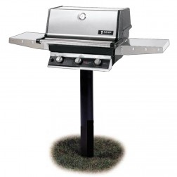 MHP T3G4DD-NS-MPP NG Tri-Burner In Ground Post Mount Grill