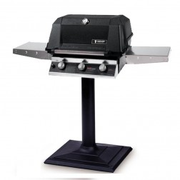 MHP W3G4DD-PS-MPB LP Tri-Burn Patio Post Mount Grill