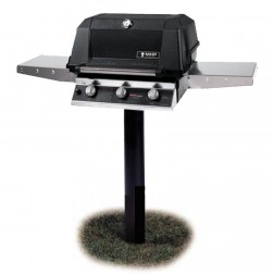 MHP W3G4DD-NS-MPP NG Tri-Burn In Ground Post Mount Grill