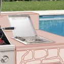 Broilmaster BSA Built-In Side burner mounting Kit