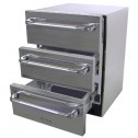 Solaire SOL-SP6DS-3D-OS Refrigerated 3 Drawers Unit