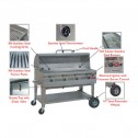 Flagro Silver Giant Commercial Series Gas Barbecue Grill